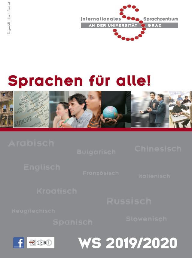 Sprachkursprogramm Wintersemester 2019/2020